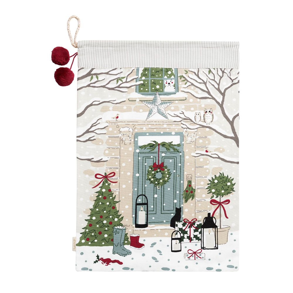 Sophie Allport 'Holly and Berry' Door Christmas Sack