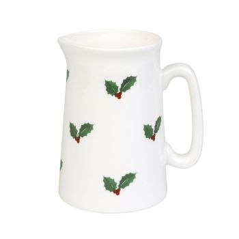 Sophie Allport Holly and Berry Bone China Jug - Small