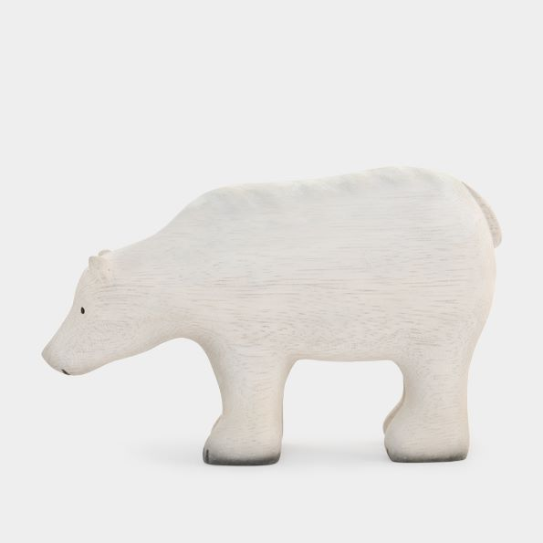East of India Large Wooden Polar Bear Ornament