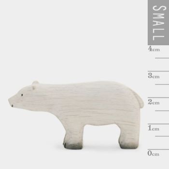 East of India Little Wooden Polar Bear Ornament