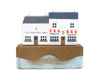 'For Your Fries Only' Seaside Scene Ornament