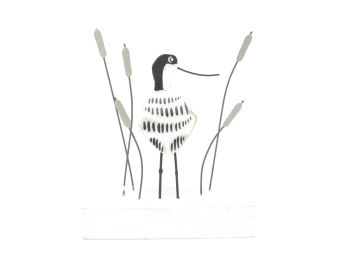 Avocet in the Reeds Ornament