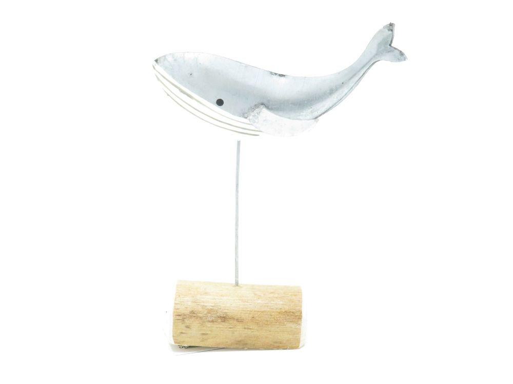 Silver Whale Ornament