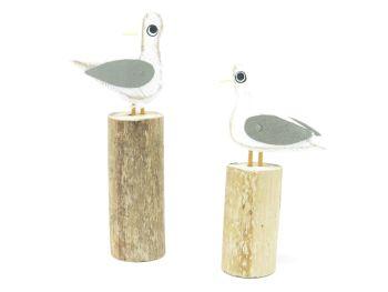 Mixed Seagull on Groyne - Set of 2