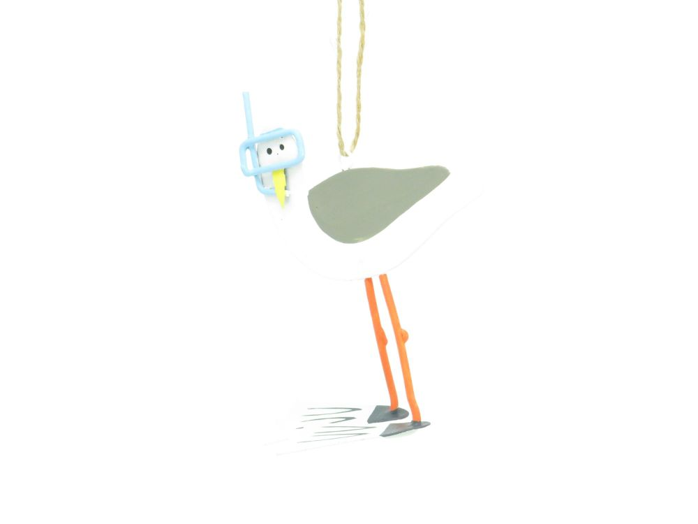 Snorkelling Seagull Hanging Decoration