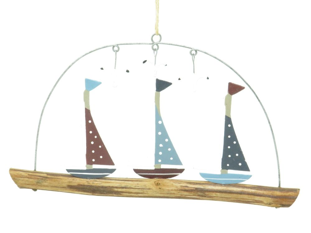 Spotted Yachts Metal and Wooden Hanging Sign