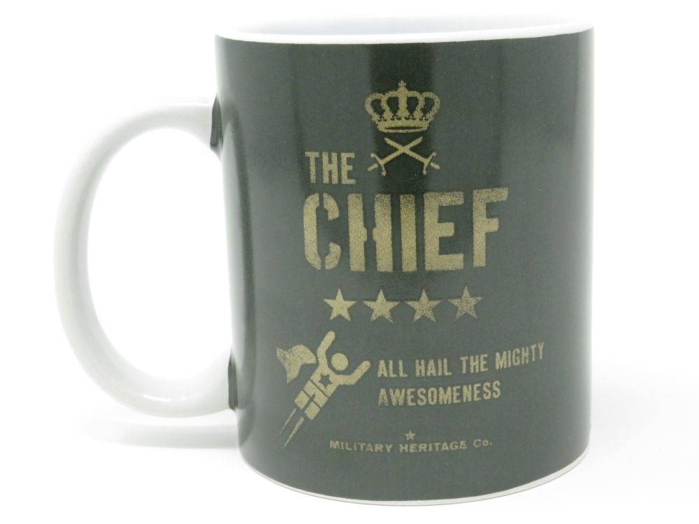 'The Chief' Military Style Ceramic Mug
