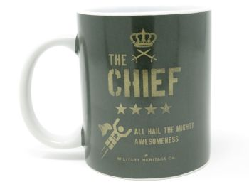 'The Chief' Military Style Ceramic Mug