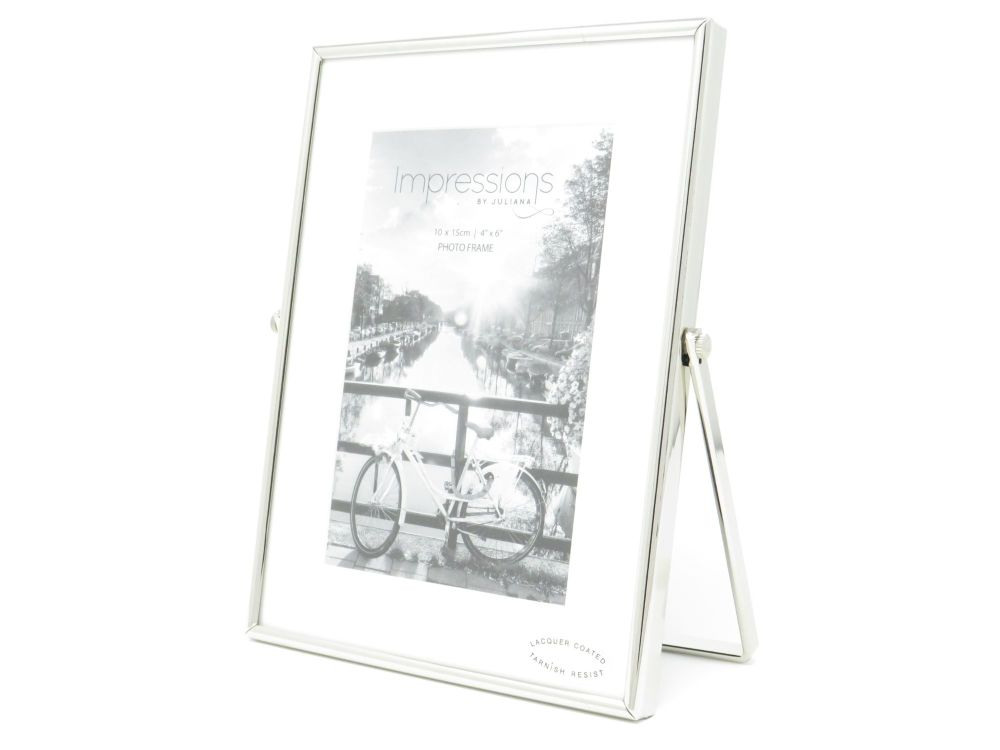 Silver Plated Swivel Stand Photo Frame - 4