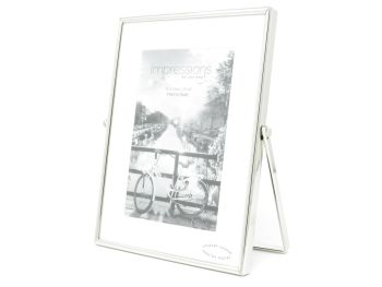 """Silver Plated Swivel Stand Photo Frame - 4"""" x 6"""""""