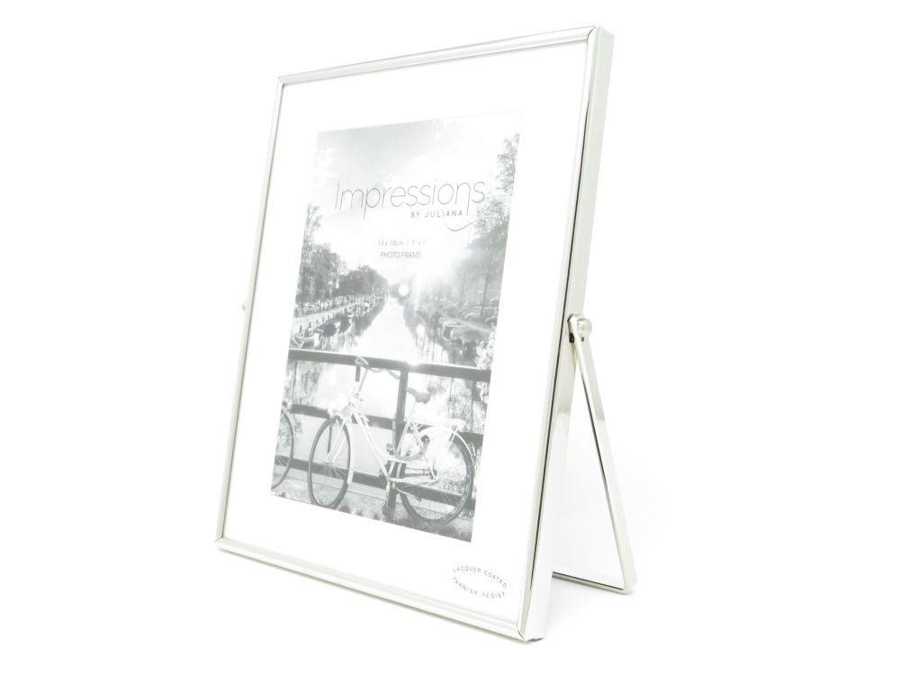 Silver Plated Swivel Stand Photo Frame - 5