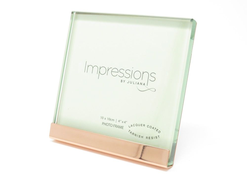 Heavy Copper Plated and Glass Photo Frame - 4