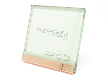 """Heavy Copper Plated and Glass Photo Frame - 4"""" x 4"""""""