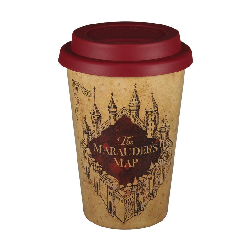 Harry Potter Bamboo Travel Cup - Marauders Map