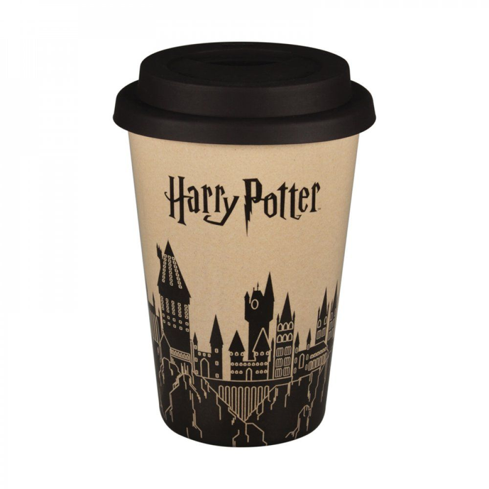 Harry Potter Bamboo Travel Cup - Hogwarts Design