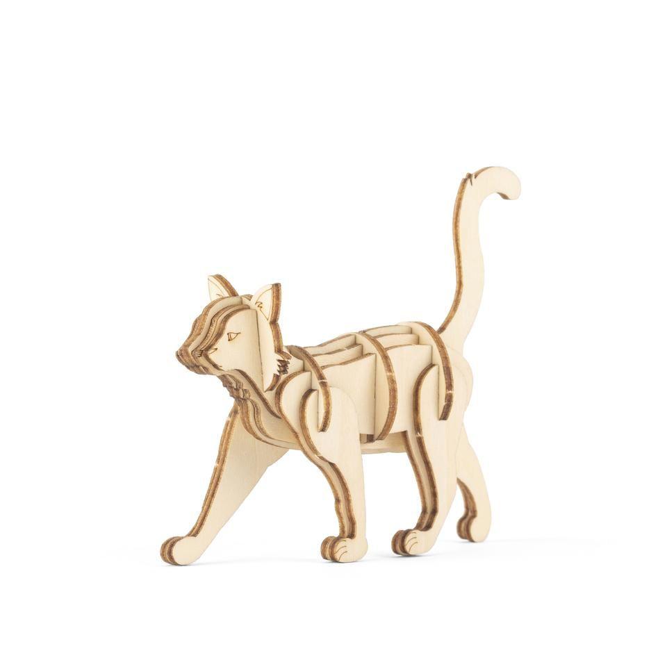 3D Wooden Puzzle - Cat