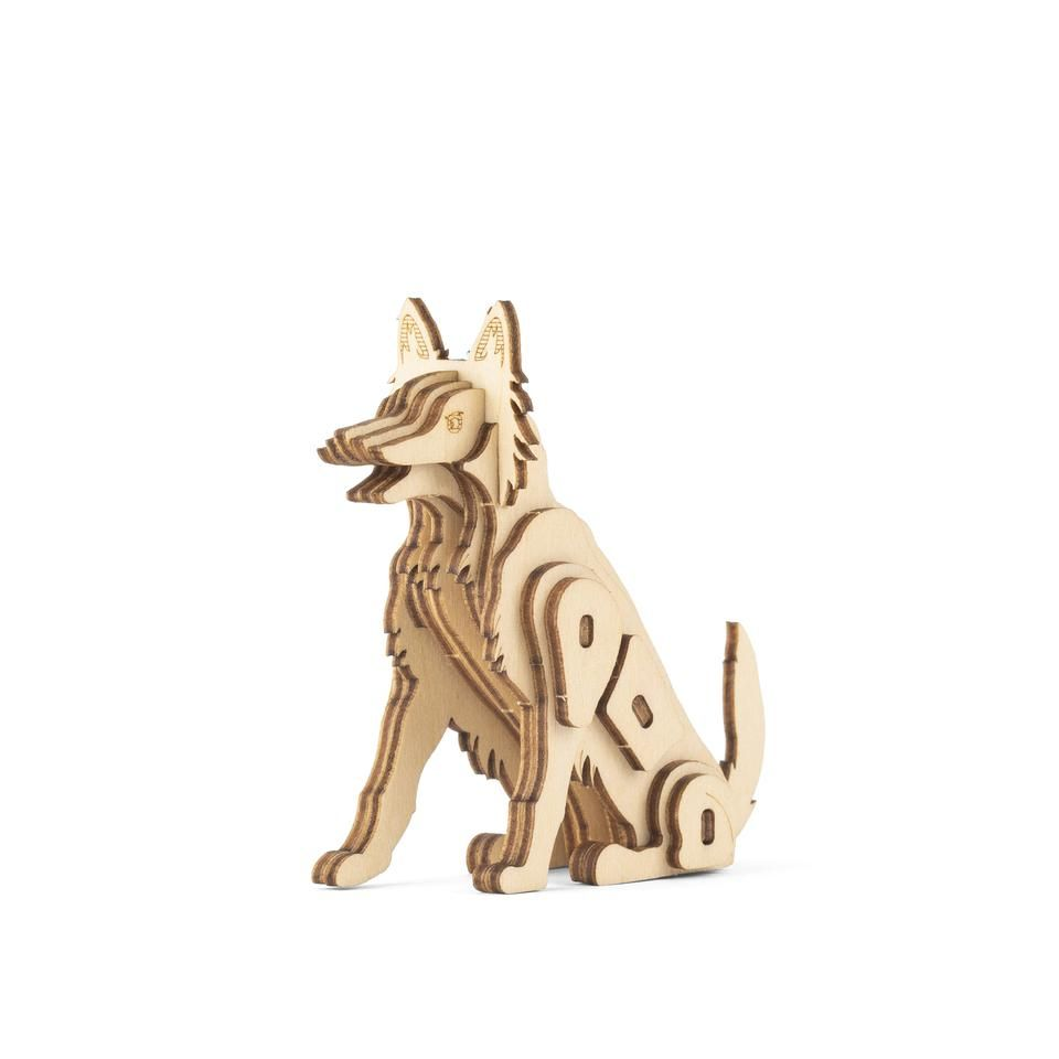 3D Wooden Puzzle - Dog
