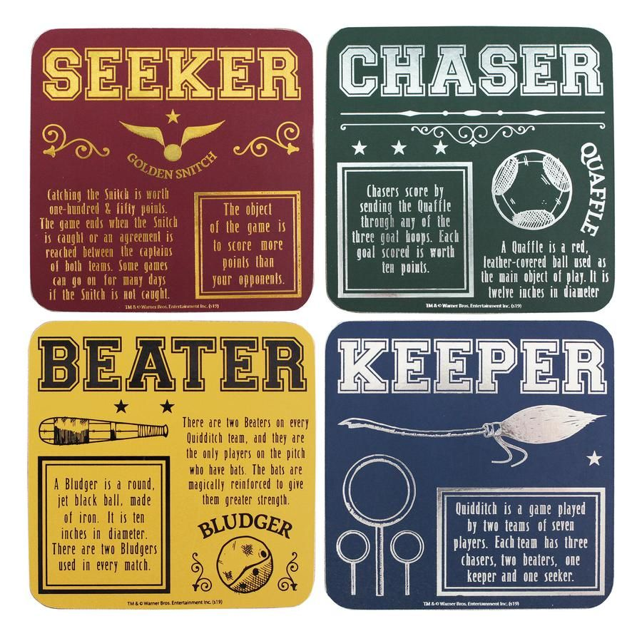 Harry Potter Set of Four Coasters