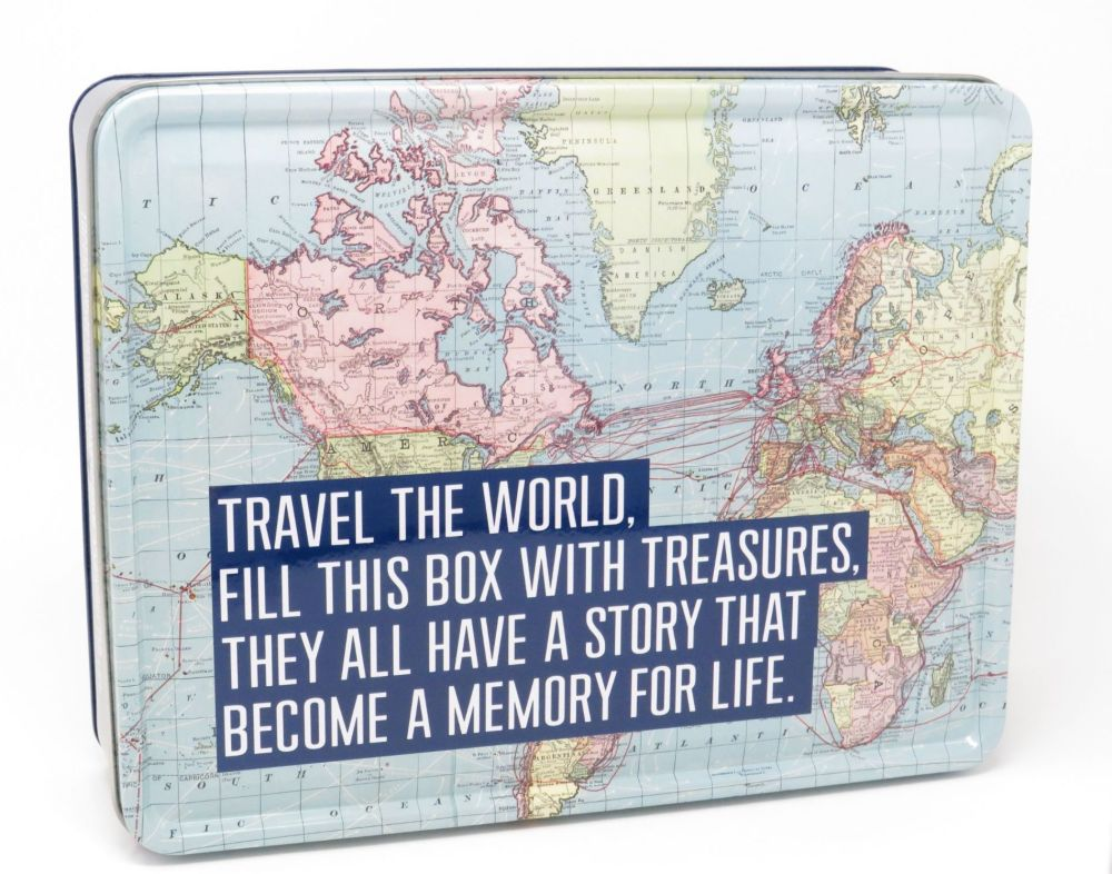 'Travel the World' Metal Tin