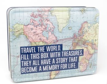 'Travel the World' Metal Tin