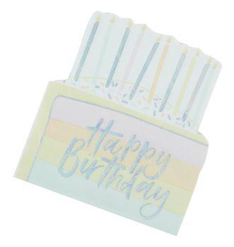 Ginger Ray Pastel Birthday Cake Napkins