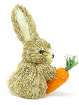 Bristle Rabbit with Carrot Ornament