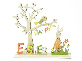 Wooden Easter Tree Ornament