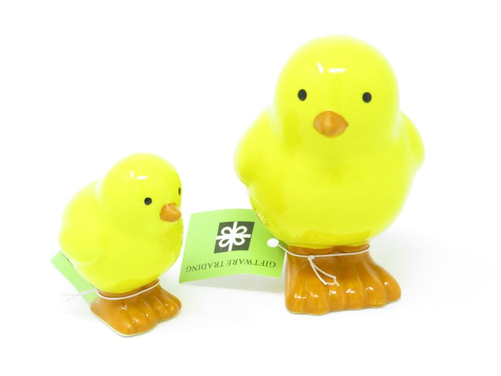 Ceramic Standing Chick Decoration - 2 Assorted Sizes