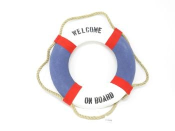 Life Buoy 'Welcome on Board' Decoration