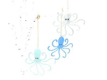Flat Metal Octopus Hangers - Set of 3