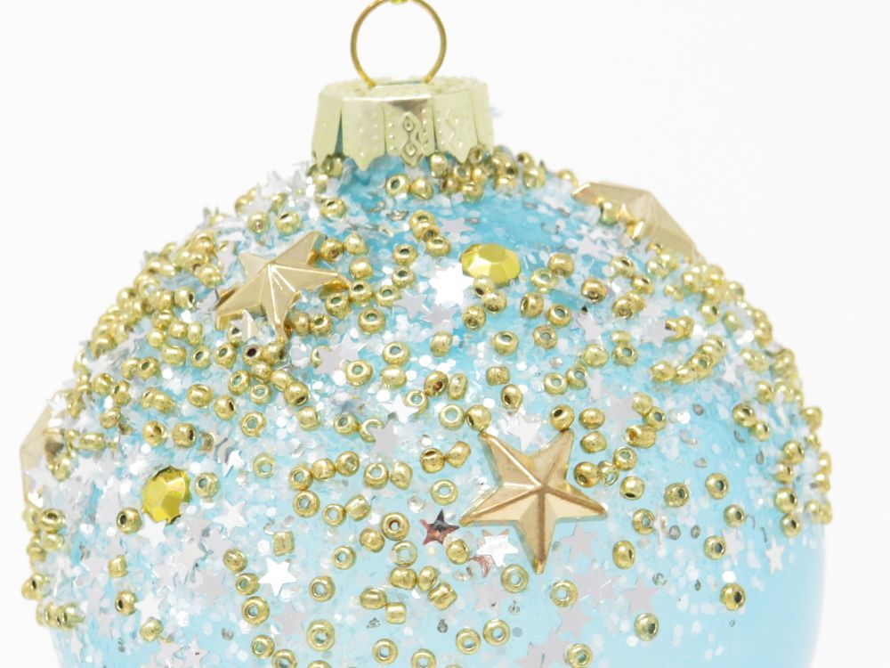 Bejewelled Blue Acrylic Bauble