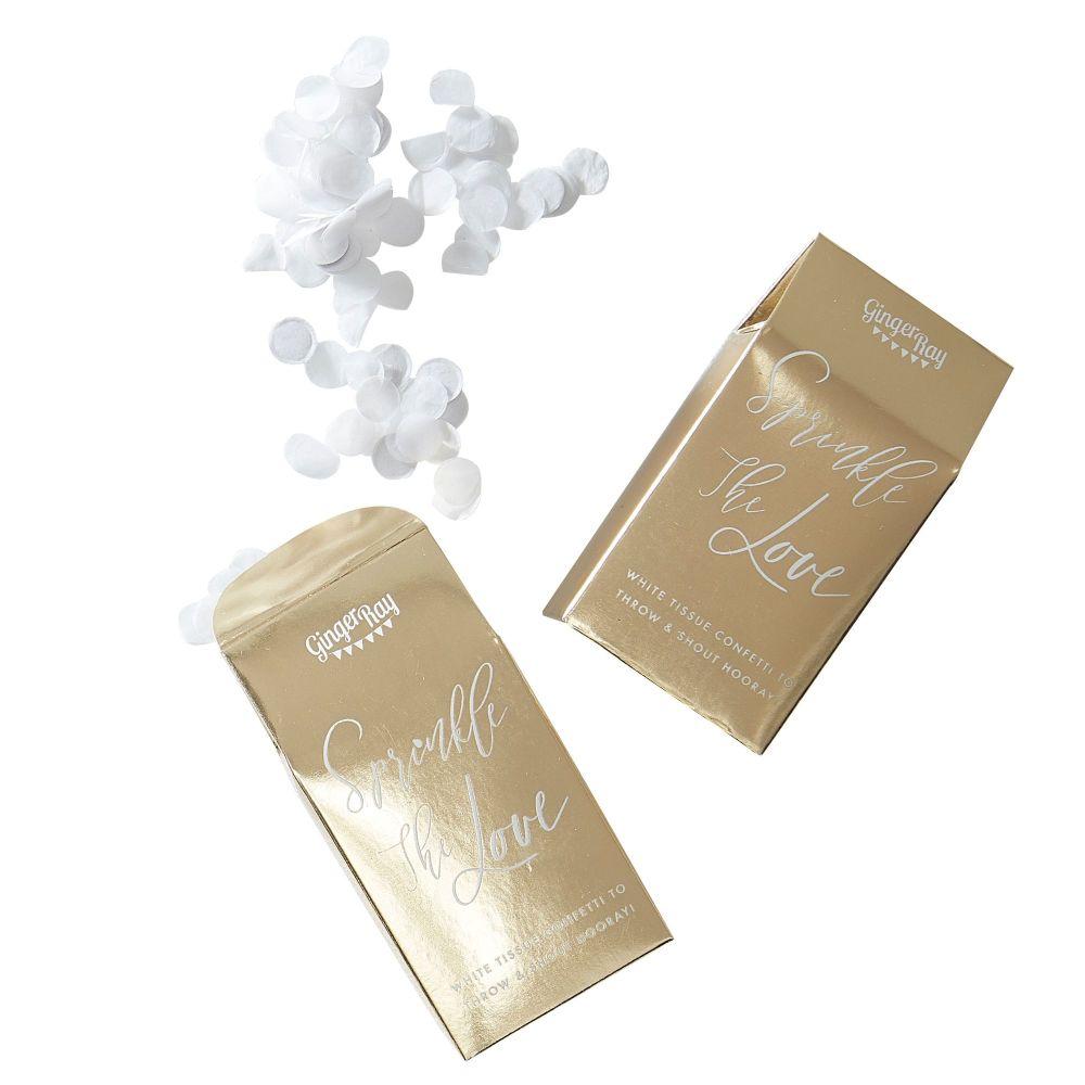 Ginger Ray Wedding Confetti in a Box - Bio degradable
