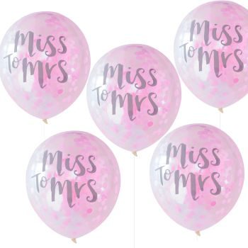Ginger Ray 'Miss to Mrs' Confetti Balloons