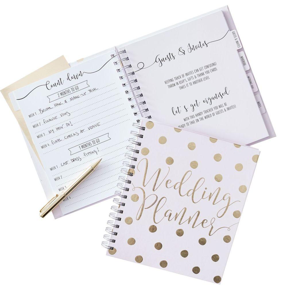 Ginger Ray Rose Gold Foiled Spot Wedding Planner