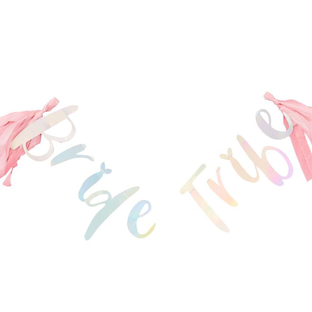 Ginger Ray 'Bride Tribe' Iridescent Tassel Garland