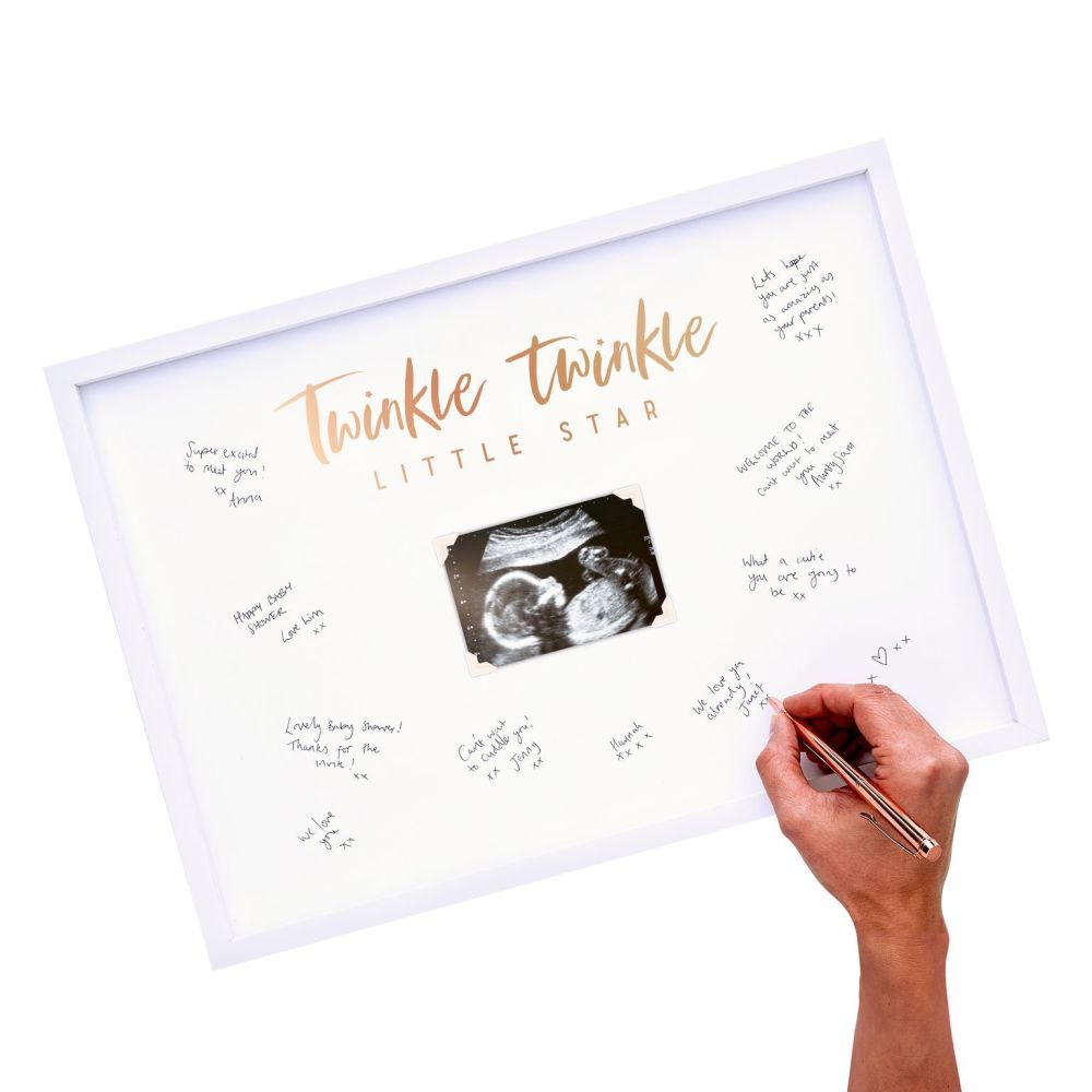 Ginger Ray Baby Scan Frame - Baby Shower Guest Book
