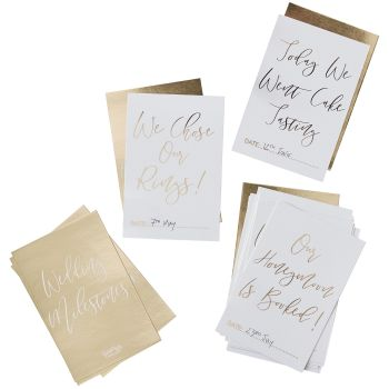 Ginger Ray Gold Wedding Milestone Cards