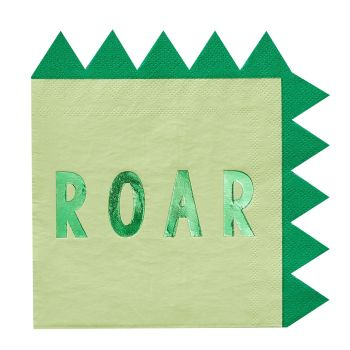 Ginger Ray Roarsome 'Roar' Foil and Paper Napkins
