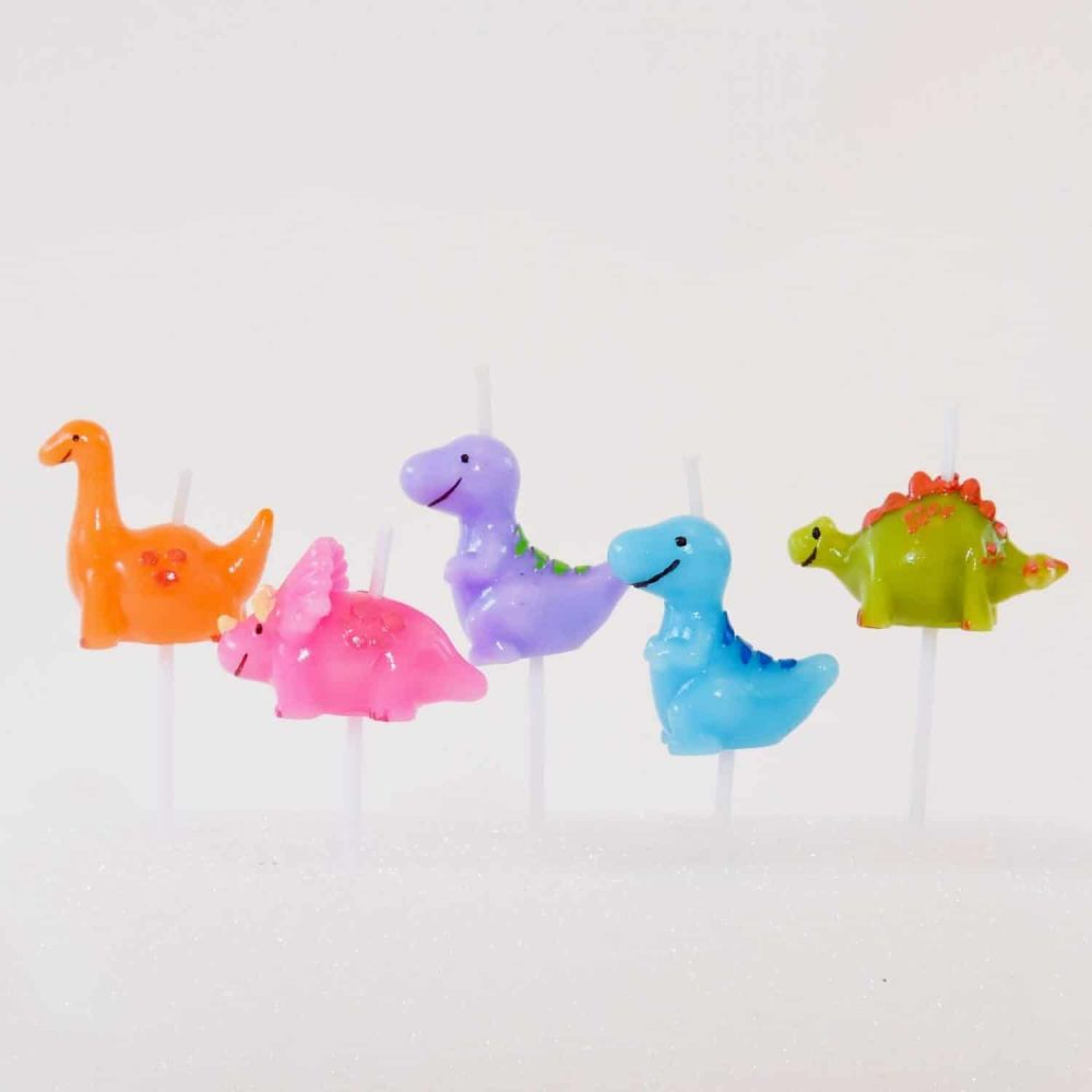 Smiling Faces Dinosaur Candles