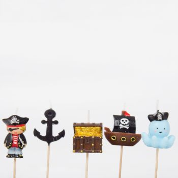 Smiling Faces Pirate Candles