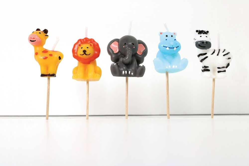 Smiling Faces Jungle Candles