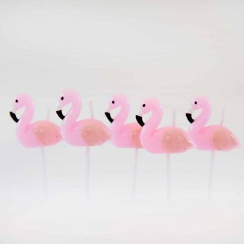 Smiling Faces Flamingo Candles