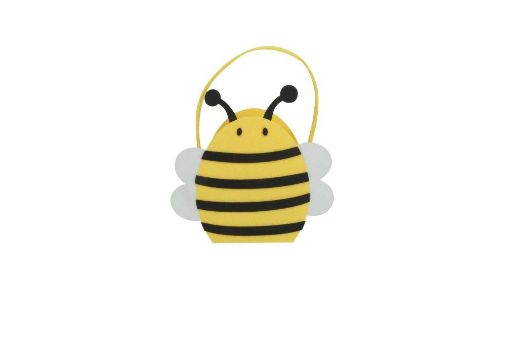 Gisela Graham Bumble Bee Felt Bucket