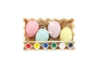 Gisela Graham Paint Your Own Egg Kit - Box of 4