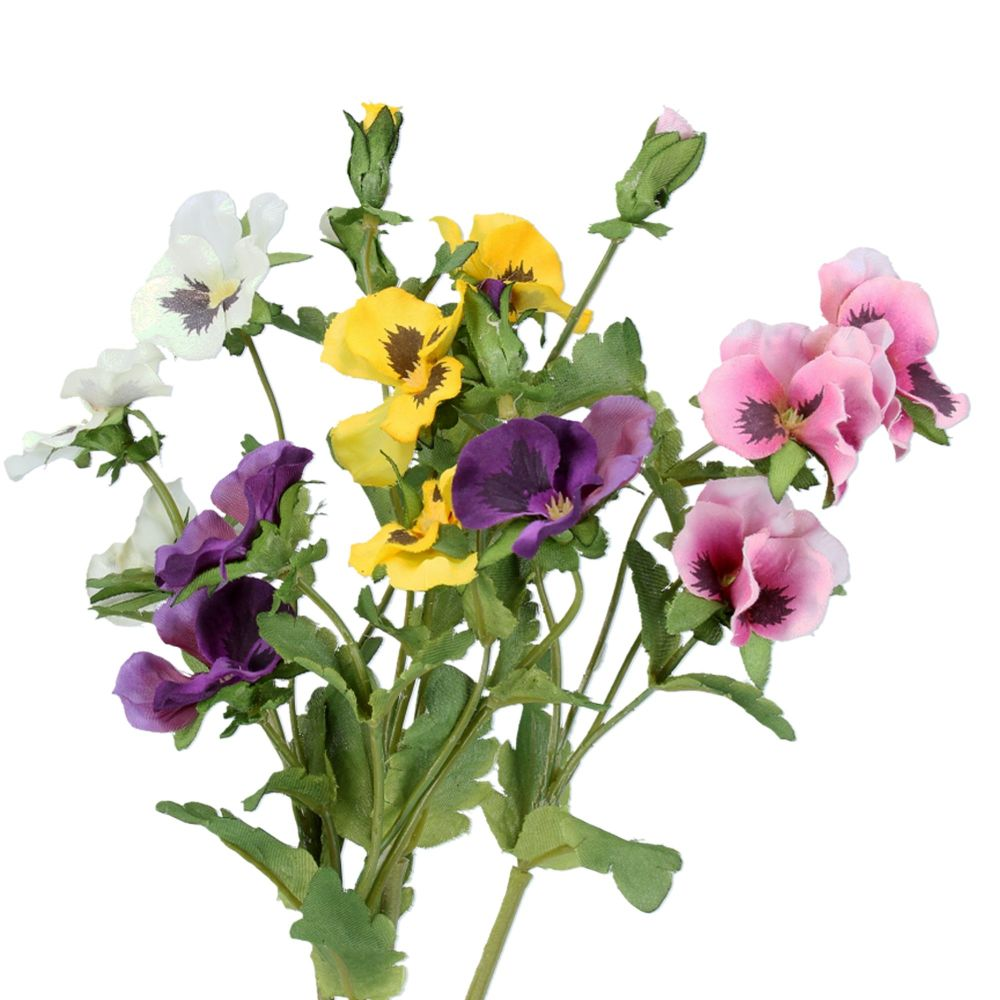 Gisela Graham Pansy Pick - 4 Assorted