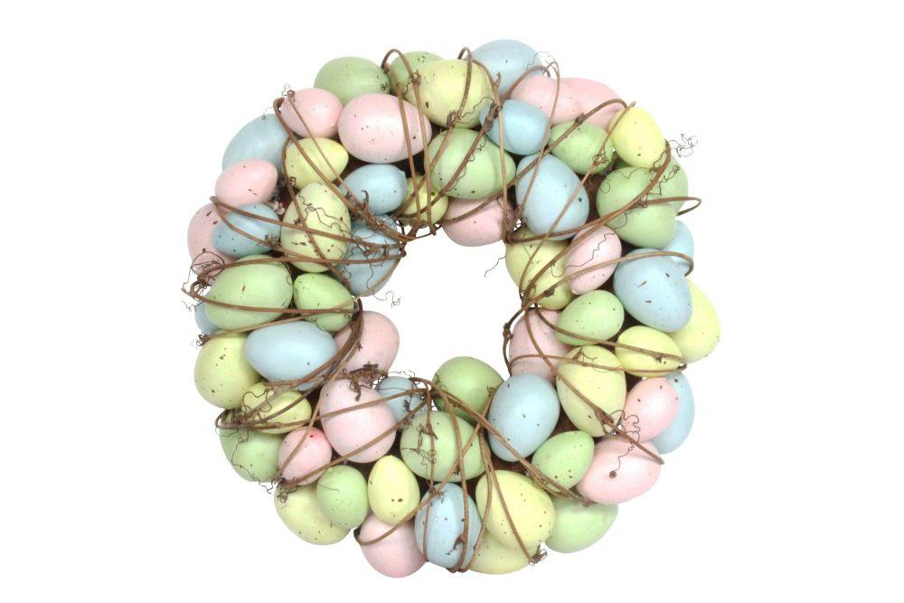 Gisela Graham Pastel Egg and Twig Wreath