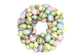 Gisela Graham Pastel Egg and Twig Wreath