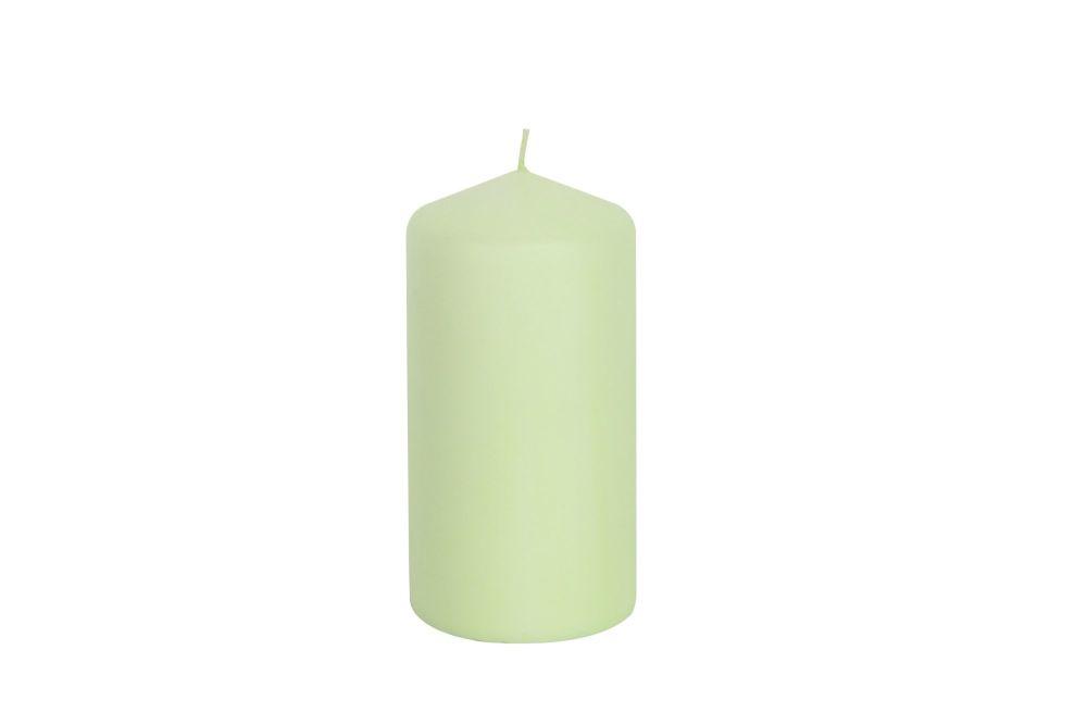 Gisela Graham Pale Green Wax Pillar Candle