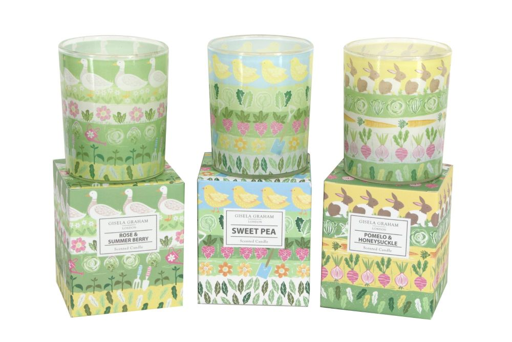 Gisela Graham Spring Garden Large Boxed Candle - 3 Assorted