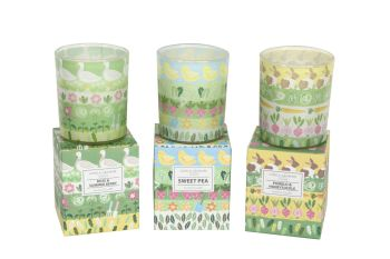 Gisela Graham Spring Garden Small Boxed Candle - 3 Assorted